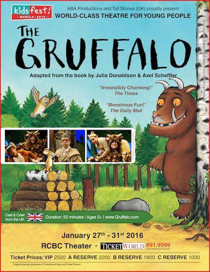 THE GRUFFALO – LIVE! GIVE YOUR LITTLE ONES THE GIFT OF LIVE THEATRE