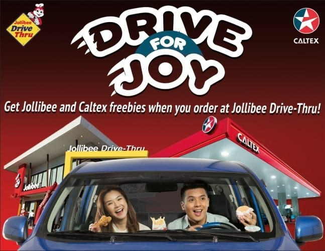 Drive thru Jollibee for savings on langhap-sarap treats and Caltex fuel