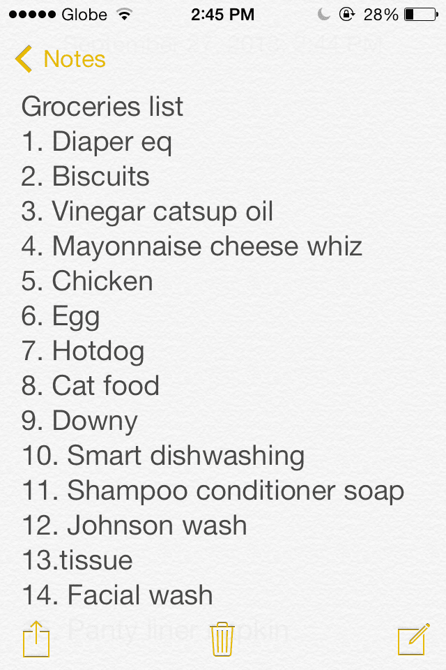 My Grocersties List