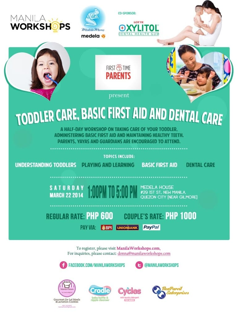 Manila Workshops: First Time Parents: Toddler Care Basic First Aid and Dental Care
