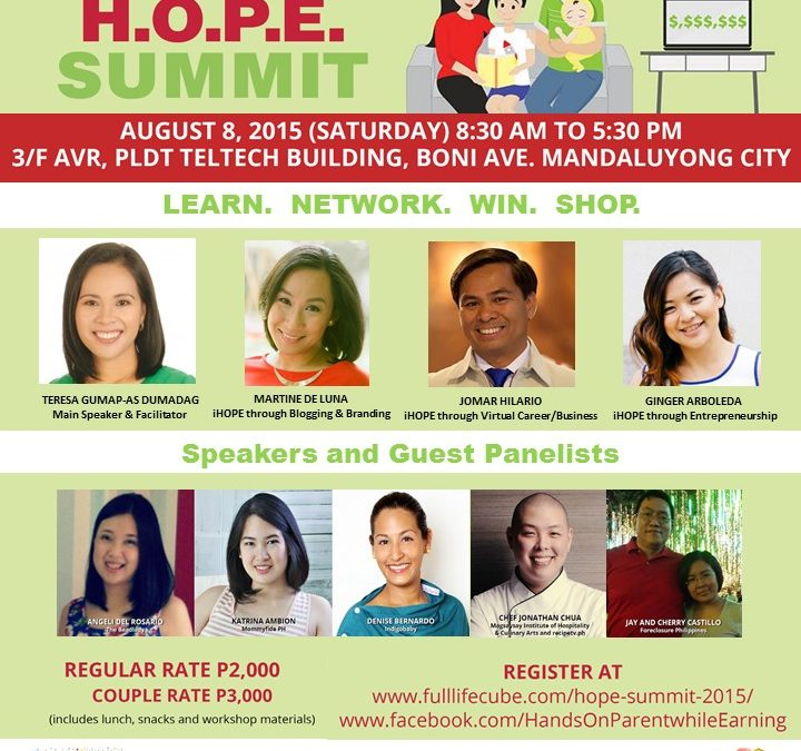 Be a Hands-On Parent while Earning Through the H.O.P.E. Summit