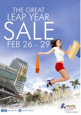 Shop 'til you drop with Araneta Center's The Great Leap Year Sale