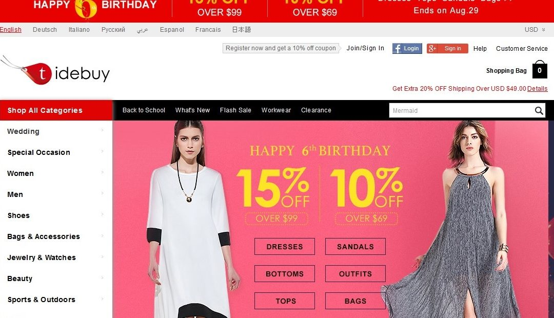 Tidebuy Fashion Online Store