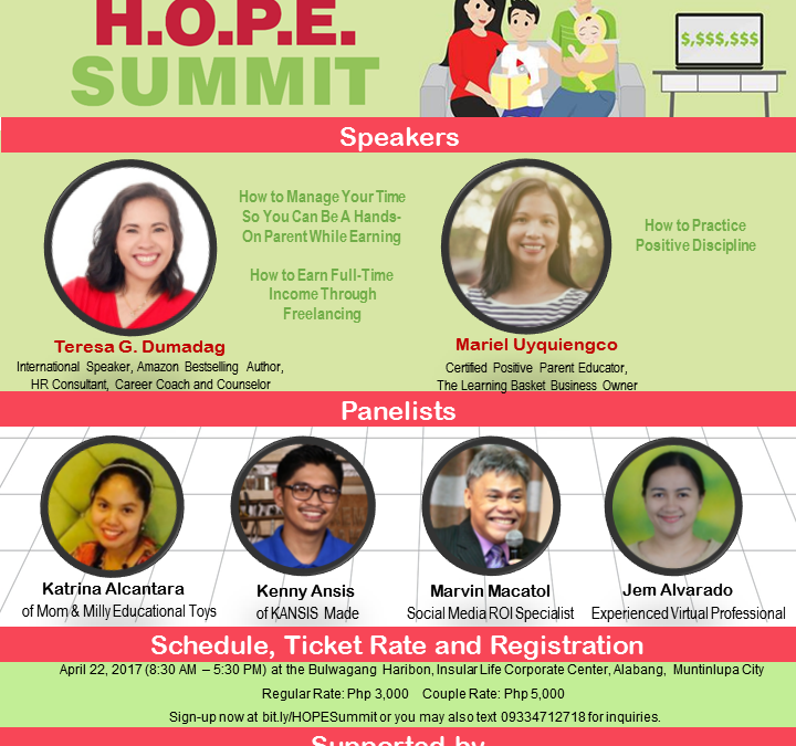 Be a Hands-On Parent while Earning through H.O.P.E. Summit 2017