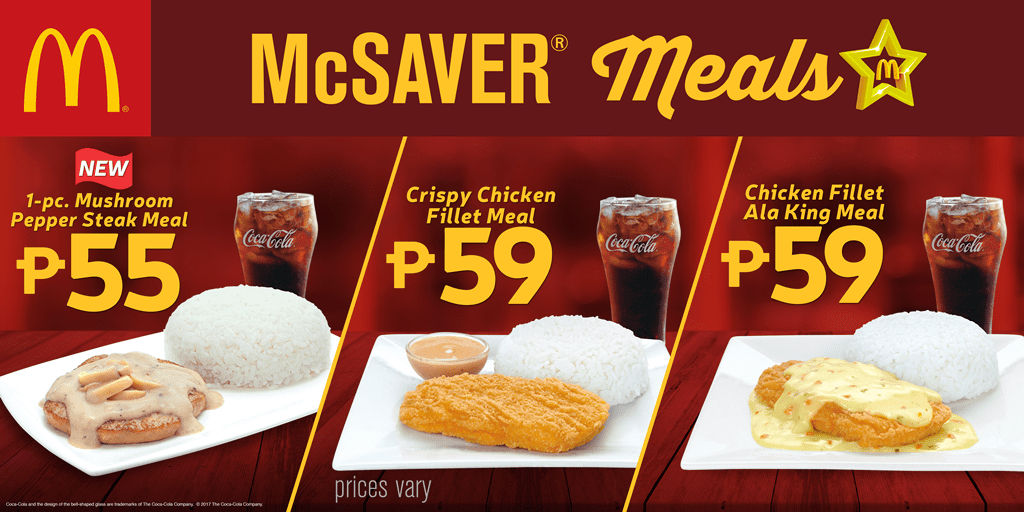 Make your day better with McDonald's McSaver Meals