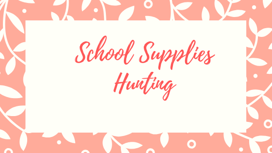School Supplies Hunting