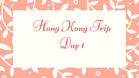 Little Kulit Adventure: Hong Kong Trip Day 1