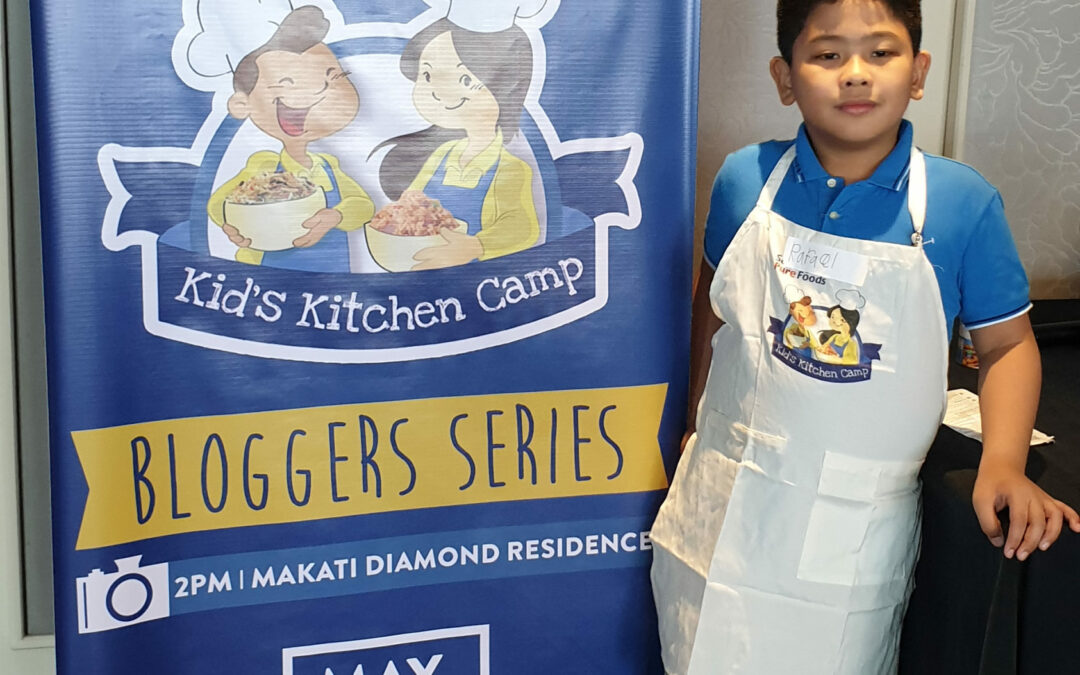 Little Chef at San Miguel Pure foods Kids Kitchen Camp