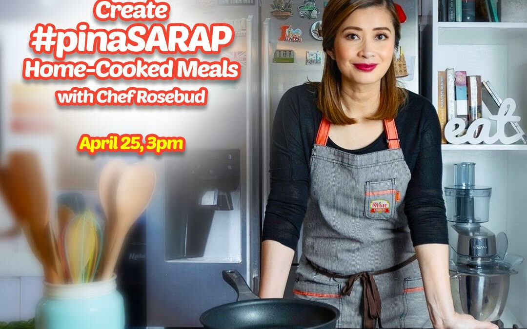 Mega Prime's new ambassador Chef Rosebud hosts an online cooking demo to share healthy and practical recipes to Filipino moms during ECQ